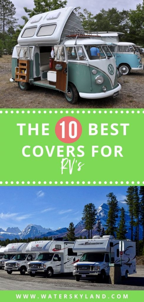 because travel trailers can be relatively pricey, protecting your investment is essential. That's why we have compiled this list of the ten best travel trailer covers currently on the market. #rv #rvliving #rvtools #travelcovers #travel #outdoors #outdoorliving