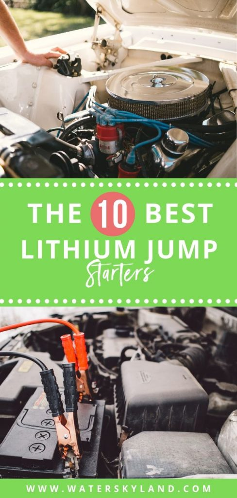 All of the products listed below are some of the best lithium jump starters and are perfect for keeping stored in your car. They are compact, portable, and can charge more than just your battery. #rv #rvliving #lithiumjumpstarter #outdoors