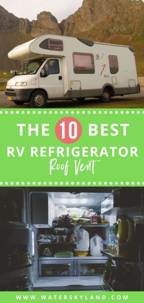 Weather and sun exposure can limit the life of your RV refrigerator roof vent. So, researching to find quality and durable products is a must. #rv #rvroof #rvrefrigerator #rvlife #outtdoors