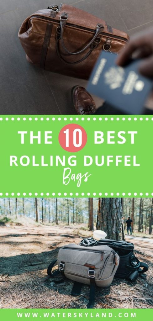 Looking for a rugged bag for your next adventure oversease? Check out the best rolling duffel bags for international travel and see what fits best for you! #travelbag #duffelbag #rollingduffelbag #travels