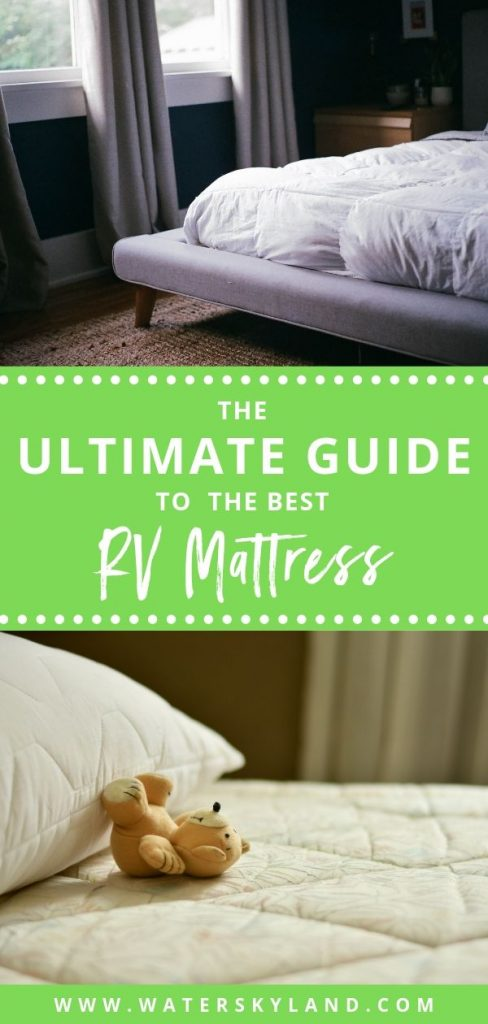 Looking to upgrade your sleeping quarters in your RV this season? Check out the best RV mattress finds on the market and start getting better sleep! #rv #rvtools #rvmattress #mattress #outdoors #rvliving